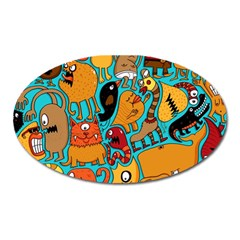Creature Cluster Oval Magnet