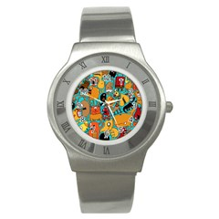 Creature Cluster Stainless Steel Watch by AnjaniArt