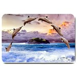 Dolphins:  Format: Set Matching  Doormat Template s Product - Large Doormat
