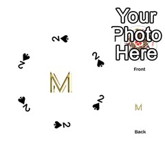 M Monogram Initial Letter M Golden Chic Stylish Typography Gold Playing Cards 54 (round)  by yoursparklingshop