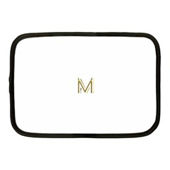 M Monogram Initial Letter M Golden Chic Stylish Typography Gold Netbook Case (medium)  by yoursparklingshop