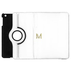 M Monogram Initial Letter M Golden Chic Stylish Typography Gold Apple Ipad Mini Flip 360 Case by yoursparklingshop