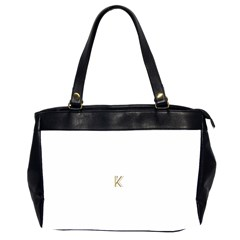 Monogrammed Monogram Initial Letter K Gold Chic Stylish Elegant Typography Office Handbags (2 Sides)  by yoursparklingshop