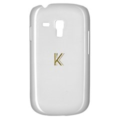 Monogrammed Monogram Initial Letter K Gold Chic Stylish Elegant Typography Samsung Galaxy S3 Mini I8190 Hardshell Case by yoursparklingshop