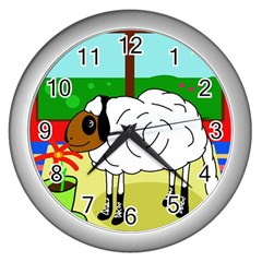 Urban Sheep Wall Clocks (silver)  by Valentinaart