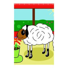 Urban Sheep Shower Curtain 48  X 72  (small)  by Valentinaart