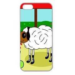 Urban sheep Apple Seamless iPhone 5 Case (Clear)