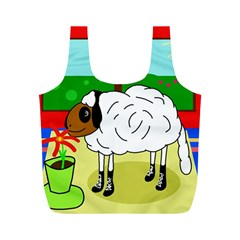 Urban Sheep Full Print Recycle Bags (m)  by Valentinaart