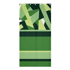 Abstract Jungle Green Brown Geometric Art Shower Curtain 36  X 72  (stall)  by CircusValleyMall