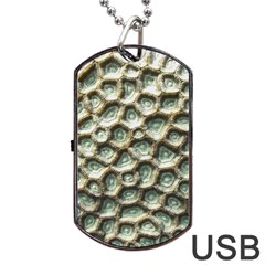 Ocean Pattern Dog Tag USB Flash (One Side) by Zeze