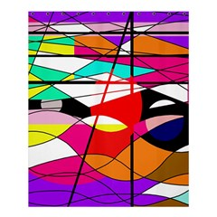 Abstract Waves Shower Curtain 60  X 72  (medium)  by Valentinaart