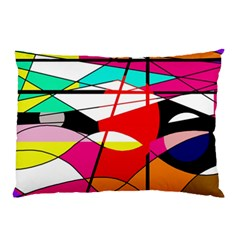 Abstract Waves Pillow Case (two Sides) by Valentinaart