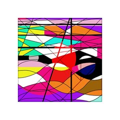 Abstract Waves Acrylic Tangram Puzzle (4  X 4 ) by Valentinaart