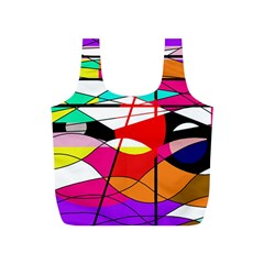 Abstract Waves Full Print Recycle Bags (s)  by Valentinaart