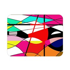Abstract Waves Double Sided Flano Blanket (mini)  by Valentinaart