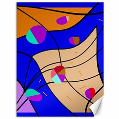 Decorative Abstract Art Canvas 36  X 48   by Valentinaart