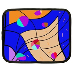 Decorative Abstract Art Netbook Case (large) by Valentinaart