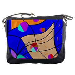Decorative Abstract Art Messenger Bags by Valentinaart