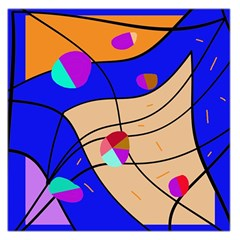 Decorative Abstract Art Large Satin Scarf (square) by Valentinaart