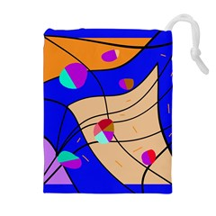 Decorative Abstract Art Drawstring Pouches (extra Large) by Valentinaart