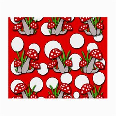 Mushrooms Pattern Small Glasses Cloth by Valentinaart