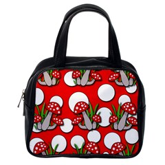 Mushrooms Pattern Classic Handbags (one Side) by Valentinaart