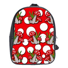 Mushrooms Pattern School Bags(large)  by Valentinaart