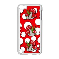 Mushrooms Pattern Apple Ipod Touch 5 Case (white) by Valentinaart