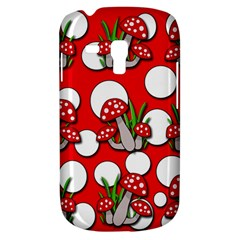 Mushrooms Pattern Samsung Galaxy S3 Mini I8190 Hardshell Case by Valentinaart