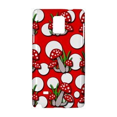 Mushrooms Pattern Samsung Galaxy Note 4 Hardshell Case by Valentinaart