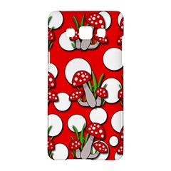 Mushrooms Pattern Samsung Galaxy A5 Hardshell Case  by Valentinaart