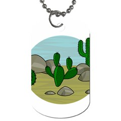 Desert Dog Tag (two Sides) by Valentinaart