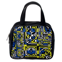 Blue And Yellow Decor Classic Handbags (one Side) by Valentinaart