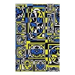 Blue And Yellow Decor Shower Curtain 48  X 72  (small)  by Valentinaart