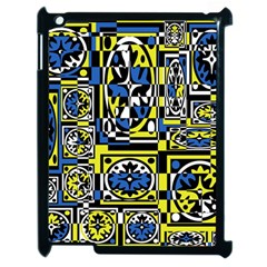 Blue And Yellow Decor Apple Ipad 2 Case (black) by Valentinaart