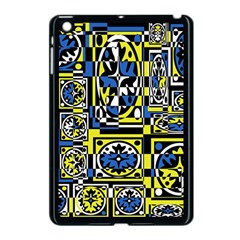 Blue And Yellow Decor Apple Ipad Mini Case (black) by Valentinaart