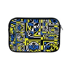 Blue And Yellow Decor Apple Ipad Mini Zipper Cases by Valentinaart