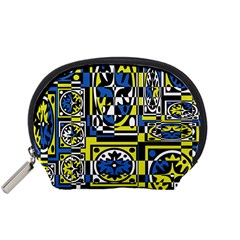 Blue And Yellow Decor Accessory Pouches (small)  by Valentinaart
