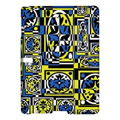 Blue And Yellow Decor Samsung Galaxy Tab S (10 5 ) Hardshell Case  by Valentinaart