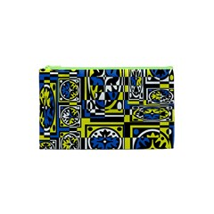 Blue And Yellow Decor Cosmetic Bag (xs) by Valentinaart