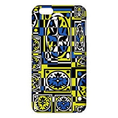 Blue And Yellow Decor Iphone 6 Plus/6s Plus Tpu Case by Valentinaart