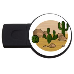 Desert 2 Usb Flash Drive Round (4 Gb)  by Valentinaart