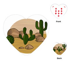 Desert 2 Playing Cards (heart)  by Valentinaart