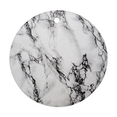 Marble Pattern Round Ornament (Two Sides)  by Zeze
