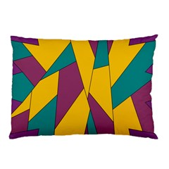 Bursting Star Poppy Yellow Violet Teal Purple Pillow Case (two Sides) by CircusValleyMall