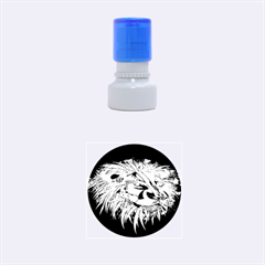 Lion Robot Rubber Round Stamps (Small) by Zeze