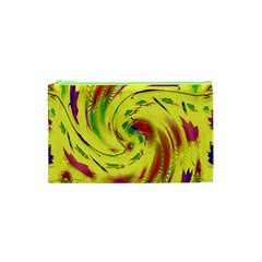 Leaf And Rainbows In The Wind Cosmetic Bag (xs) by pepitasart