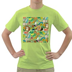 D Pattern Green T Shirt