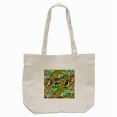 D Pattern Tote Bag (cream)