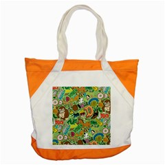 D Pattern Accent Tote Bag